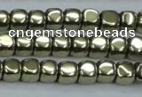 CHE876 15.5 inches 3*3mm dice plated hematite beads wholesale
