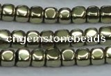 CHE877 15.5 inches 4*4mm dice plated hematite beads wholesale