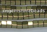 CHE881 15.5 inches 4*4mm cube plated hematite beads wholesale