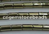 CHE883 15.5 inches 3*5mm tube plated hematite beads wholesale