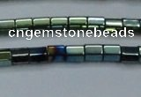 CHE890 15.5 inches 2*2mm faceted tube plated hematite beads wholesale