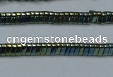CHE923 15.5 inches 1*3mm triangle plated hematite beads wholesale