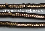 CHE929 15.5 inches 1*2*3mm oval plated hematite beads wholesale