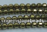 CHE973 15.5 inches 4*4mm plated hematite beads wholesale