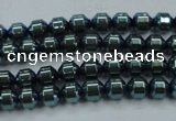 CHE976 15.5 inches 4*4mm plated hematite beads wholesale