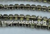 CHE982 15.5 inches 4*4mm plated hematite beads wholesale