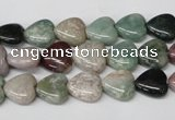 CHG17 15.5 inches 10*10mm heart Indian agate gemstone beads wholesale