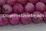 CHM224 15.5 inches 12mm round dyed hemimorphite beads wholesale