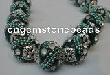 CIB183 18mm round fashion Indonesia jewelry beads wholesale