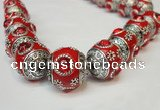 CIB193 19mm round fashion Indonesia jewelry beads wholesale