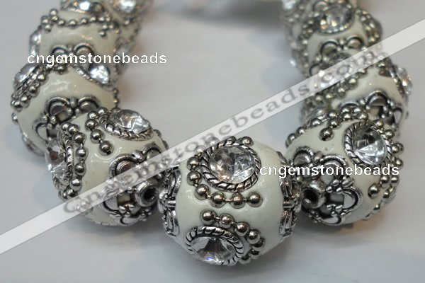 CIB200 19mm round fashion Indonesia jewelry beads wholesale