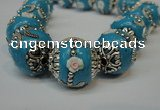 CIB211 17mm round fashion Indonesia jewelry beads wholesale