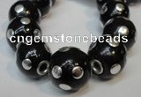 CIB242 18mm round fashion Indonesia jewelry beads wholesale
