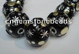 CIB367 23mm round fashion Indonesia jewelry beads wholesale