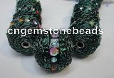 CIB461 25mm round fashion Indonesia jewelry beads wholesale