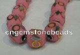 CIB481 15*16mm drum fashion Indonesia jewelry beads wholesale
