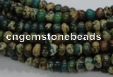 CIJ06 15.5 inches 4*6mm rondelle impression jasper beads wholesale