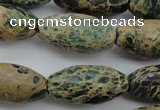 CIJ102 15.5 inches 15*30mm rice impression jasper beads wholesale