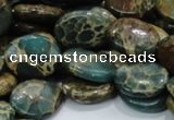 CIJ12 15.5 inches 15*20mm oval impression jasper beads wholesale