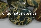 CIJ15 15.5 inches 22*30mm oval impression jasper beads wholesale