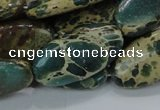 CIJ17 15.5 inches 15*30mm oval impression jasper beads wholesale
