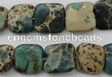 CIJ53 15.5 inches 15*15mm square impression jasper beads wholesale