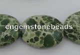 CIJ80 15.5 inches 13*18mm oval impression jasper beads wholesale