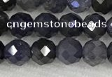 CIL50 15.5 inches 6mm faceted round iolite gemstone beads
