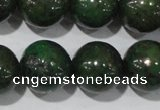 CIS04 15.5 inches 12mm round green iron stone beads wholesale