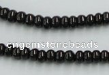 CJB09 16 inches 4*6mm rondelle natural jet gemstone beads wholesale