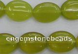 CKA247 15.5 inches 15*20mm oval Korean jade gemstone beads