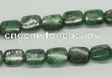 CKC106 16 inches 8*10mm rectangle natural green kyanite beads wholesale