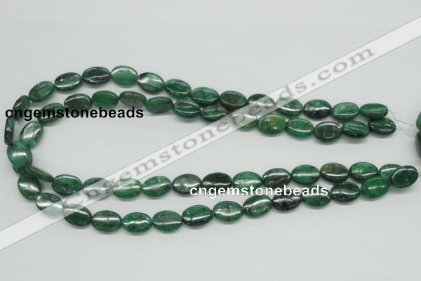 CKC112 16 inches 10*14mm oval natural green kyanite beads wholesale