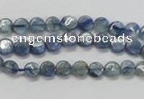 CKC201 15.5 inches 6mm flat round natural kyanite beads wholesale
