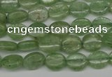 CKC266 15.5 inches 8*10mm oval natural green kyanite beads