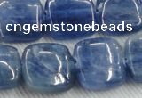 CKC525 15.5 inches 16mm square natural Brazilian kyanite beads