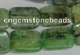 CKC68 15.5 inches 15*20mm rectangle natural green kyanite beads