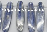 CKC80 Top drilled 13*55mm oval natural kyanite gemstone beads