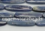CKC94 15.5 inches 10*35mm oval natural kyanite gemstone beads