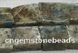 CKJ447 15.5 inches 9*10mm - 10*14mm rectangle natural k2 jasper beads
