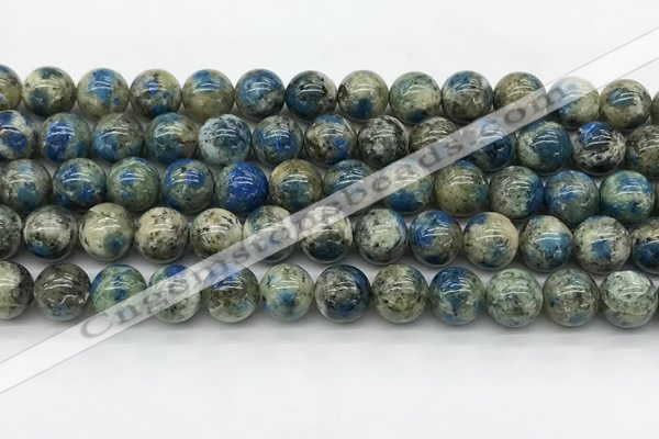 CKJ476 15.5 inches 10mm round natural k2 jasper beads wholesale