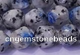 CKJ707 15.5 inches 8mm faceted nuggets imitation k2 jasper beads