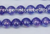 CKQ101 15.5 inches 6mm round AB-color dyed crackle quartz beads