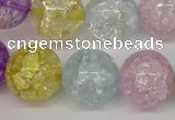 CKQ27 15.5 inches 18mm round dyed crackle quartz beads wholesale