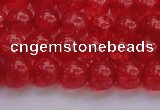 CKQ316 15.5 inches 8mm round dyed crackle quartz beads wholesale