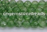CKQ336 15.5 inches 6mm round dyed crackle quartz beads wholesale