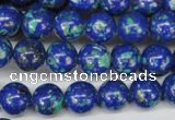 CLA402 15.5 inches 8mm round synthetic lapis lazuli beads