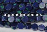 CLA441 15.5 inches 6mm coin synthetic lapis lazuli beads