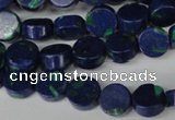 CLA442 15.5 inches 8mm coin synthetic lapis lazuli beads