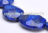 CLA45 19*25mm faceted teardrop deep blue dyed lapis lazuli beads